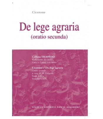 Cicerone DE LEGE AGRARIA II a cura di M. Geigerle