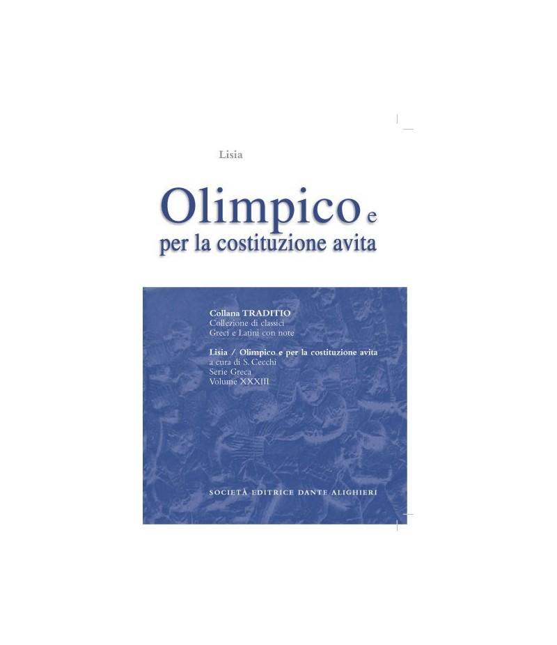 Lisia OLIMPICO E PER LA COSTITUZIONE AVITA a cura di S.Cecchi